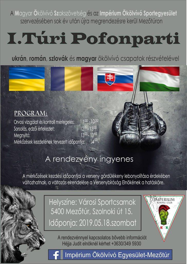 I. Túri Pofonparti @ Mezőtúr, Városi Sportcsarnok | Mezőtúr | Magyarország