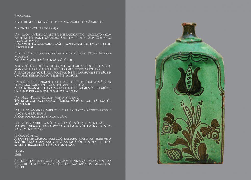 Kerámiagyűjtemények a Kárpát-Medencében konferencia @ Többfunkciós Közösségi Tér (színház) előtere | Mezőtúr | Magyarország