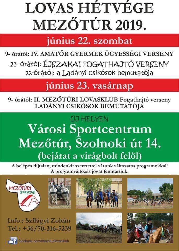 Lovas Hétvége 2019. @ Mezőtúr, Városi Sportcentrum | Mezőtúr | Magyarország