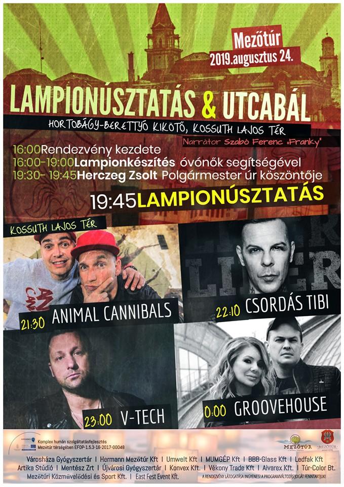 Lampionúsztatás és utcabál @ Mezőtúr, több helyszín | Mezőtúr | Magyarország