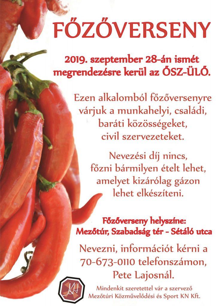 ŐSZ-ÜLŐ - 2019. - FŐZŐVERSENY @ Mezőtúr, Szabadság tér | Mezőtúr | Magyarország