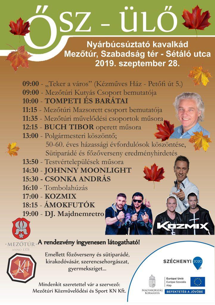 ŐSZ-ÜLŐ 2019 programok @ Mezőtúr, Szabadság tér - Sétáló utca | Mezőtúr | Magyarország
