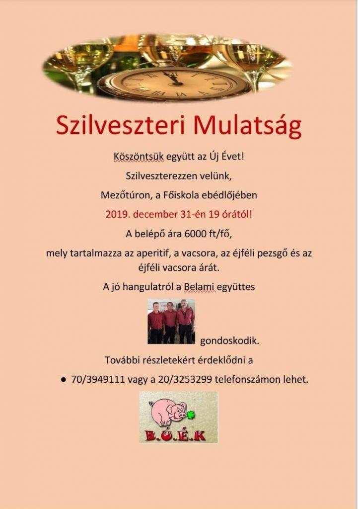 Szilveszteri Mulatság @ Mezőtúr, Városi Oktatási Centrum - Ebédlő | Mezőtúr | Magyarország