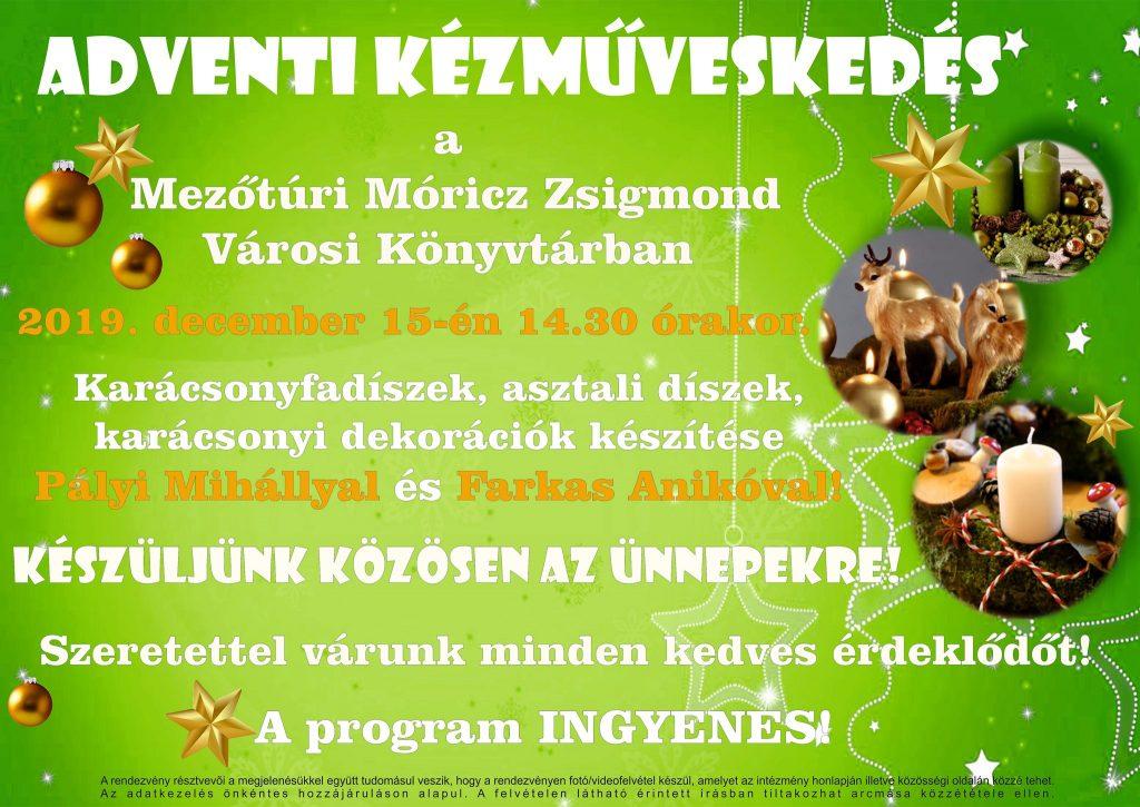 Adventi Kézműveskedés @ Mezőtúri Móricz Zsigmond Városi Könyvtár | Mezőtúr | Magyarország