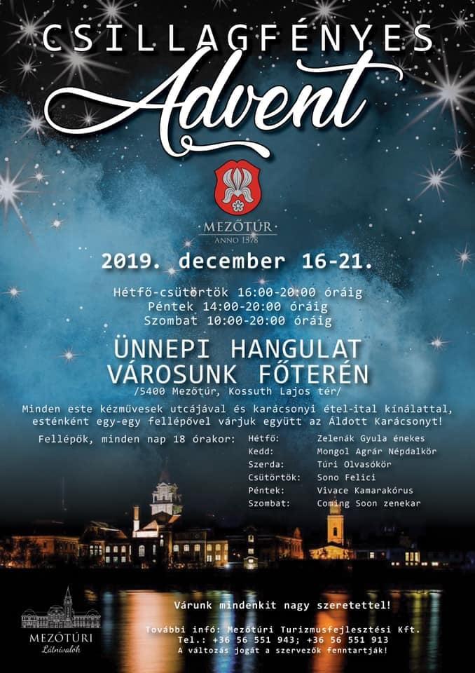 Csillagfényes Advent Mezőtúron @ Mezőtúr, Kossuth Lajos tér | Mezőtúr | Magyarország