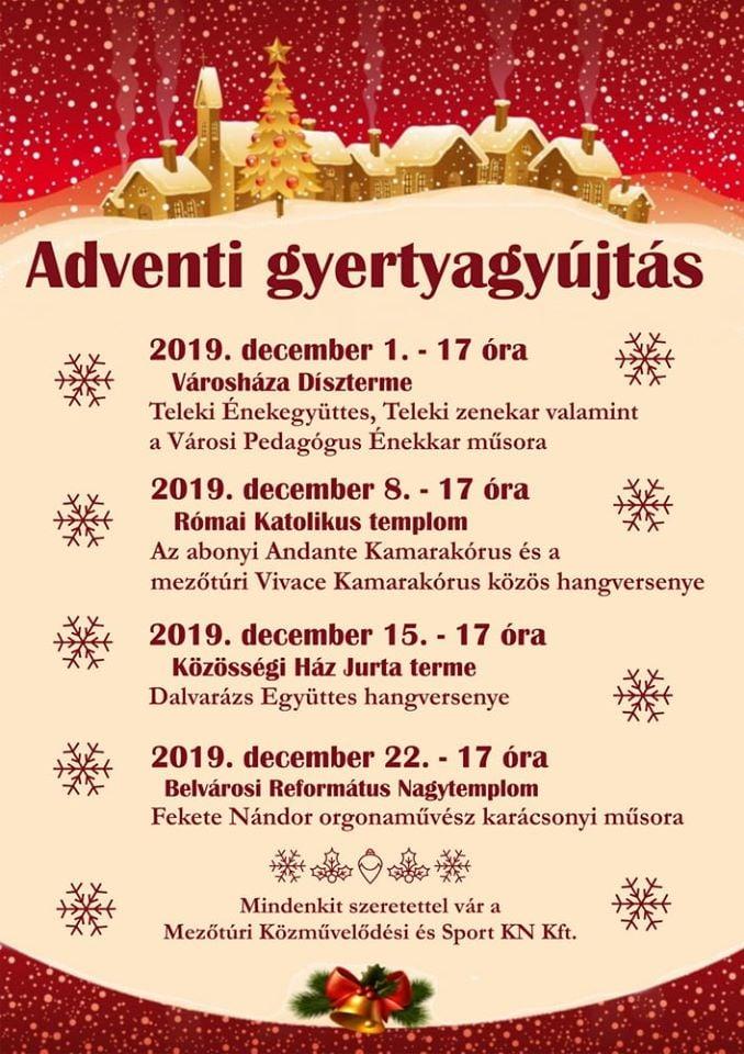 Adventi gyertyagyújtások ideje - Mezőtúr @ Mezőtúr, több helyszín | Mezőtúr | Magyarország