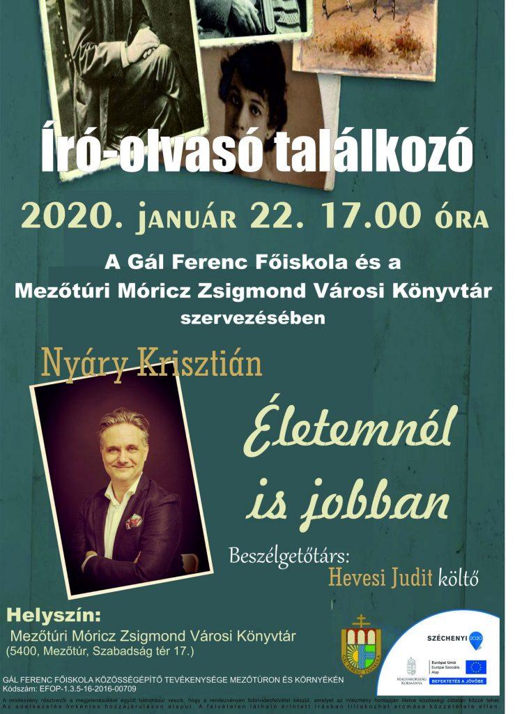 Író-olvasó találkozó Nyáry Krisztiánnal @ Mezőtúr, Közösségi Ház - Könyvtár   Mezőtúr   Magyarország