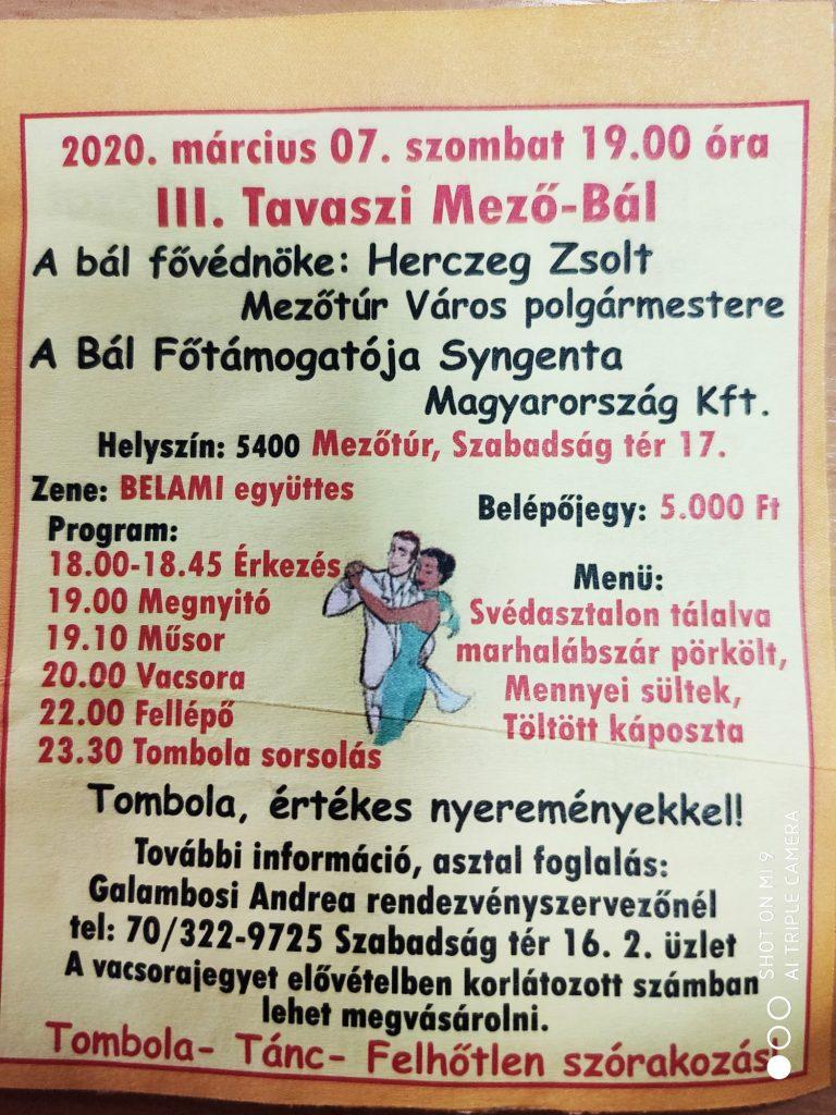III. Tavaszi Mező-Bál @ Mezőtúr, Szabadság tér 17. | Mezőtúr | Magyarország
