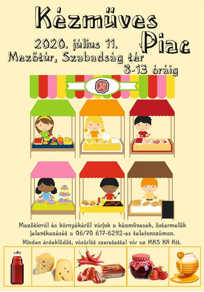 Kézműves Piac - 2020. 07. 11. @ Mezőtúr, Szabadság tér | Mezőtúr | Magyarország