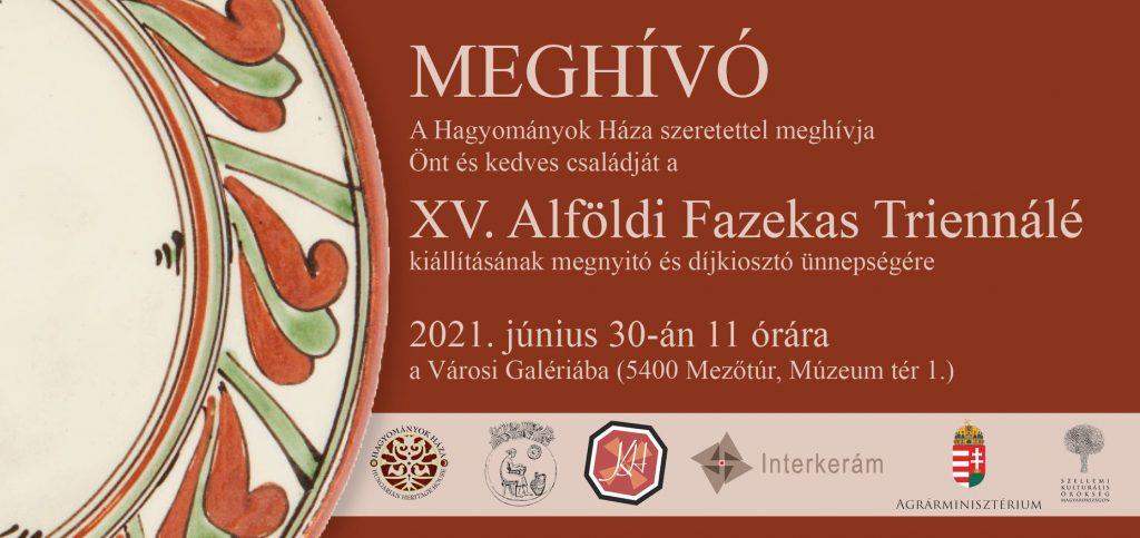 XV. Alföldi Fazekas Triennálé megnyitó @ Mezőtúr, Városi Galéria | Mezőtúr | Magyarország