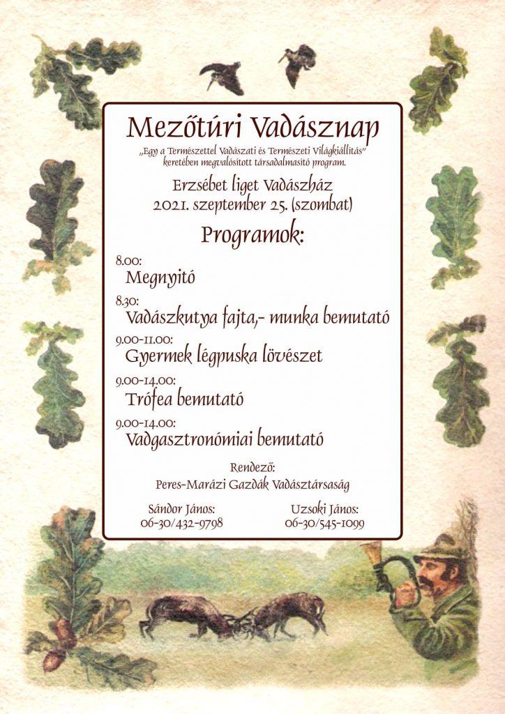 Mezőtúr Vadásznap @ Mezőtúr, Erzsébet Liget vadászház   Mezőtúr   Magyarország